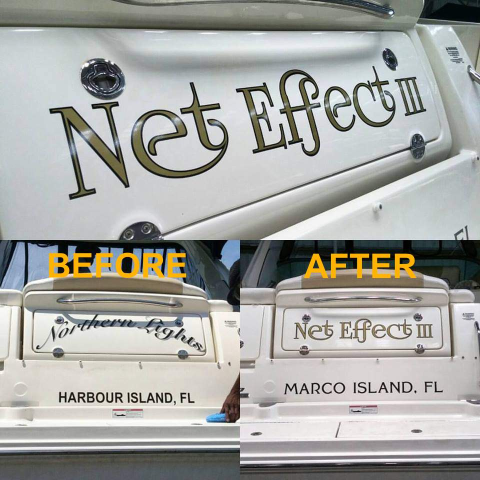 Custom Boat Lettering Installed Locally | Names | St